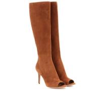 mytheresa.com exklusiv Open-Toe-Stiefel aus Veloursleder