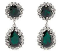 Clip-Ohrringe mit Kristallverzierung