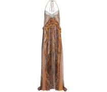 Bodenlanges Kleid aus Seidenkrepon