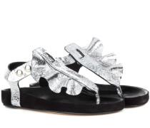 Sandalen Leakey aus Metallic-Leder