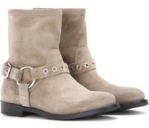 Boots Queenstead aus Veloursleder