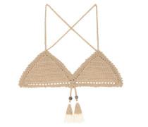 Gehäkeltes Bikini-Top Essential Fixed Triangle
