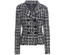 Tweed-Jacke aus einem Woll-Baumwollgemisch