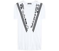 T-Shirt mit Matrosenkragen aus Baumwolle