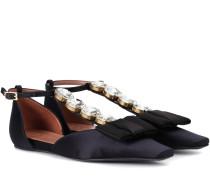 Sandalen aus Satin mit Verzierung
