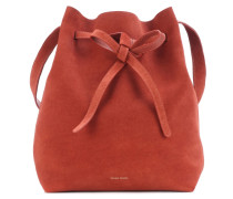 Bucket Bag aus Veloursleder