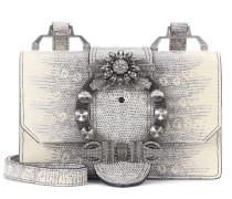 Schultertasche aus geprägtem Leder