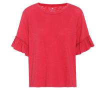 T-Shirt aus Baumwolle mit Rüschen