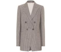 Karierter Blazer aus Tweed