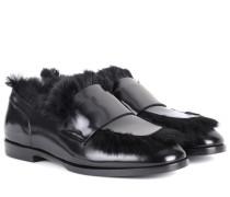 Loafers aus Lackleder
