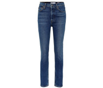 High-Rise Jeans Ankle Crop