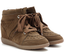 Étoile Bobby Wedge-Sneakers aus Veloursleder