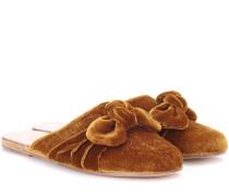 Slippers Pasoumi Bow aus Samt