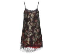 Jacquard-Kleid mit Spitze und Metallic-Finish