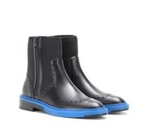 Ankleboots aus Neopren und Leder