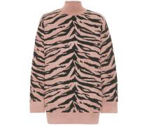 Oversize-Pullover mit Wollanteil