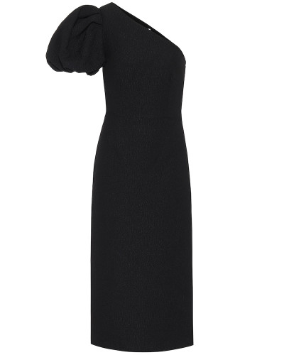 One-Shoulder-Kleid Natalia aus Jacquard