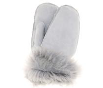 Handschuhe aus Veloursleder mit Shearling