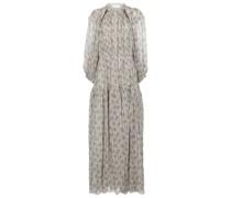 Bedruckte Robe aus Seiden-Georgette