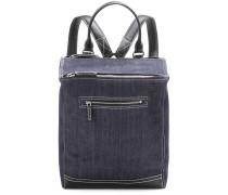 Rucksack Pandora aus Denim und Leder