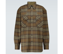 Kariertes Hemd aus Baumwollflanell