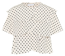 Gepunktetes Cropped-Top Jude