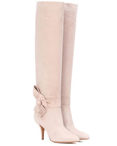 Stiefel Side Bow aus Veloursleder