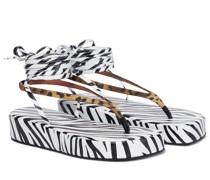 Bedruckte Sandalen Jamie aus Satin