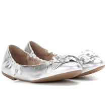 Ballerinas Blossom Ballet aus Metallic-Leder