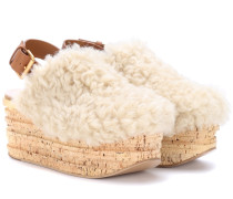 Plateausandalen Camille aus Shearling