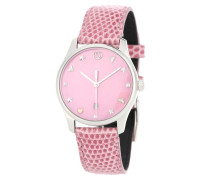 Uhr G-Timeless aus Edelstahl mit Lederarmband