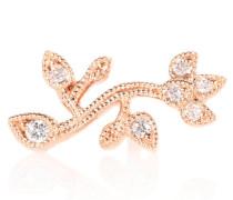 Ohrring Cherry Blossom aus 14kt Roségold und Diamanten