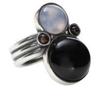 Ring aus Sterlingsilber mit natürlichen Steinen