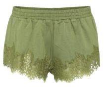 Shorts aus Baumwolle mit Spitze