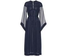 Gepunktetes Kleid aus Crêpe