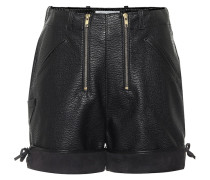 Shorts aus Lederimitat