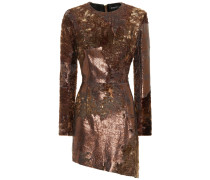 Kleid aus Leder und Shearling