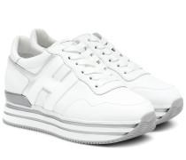 Plateau-Sneakers H483 aus Leder