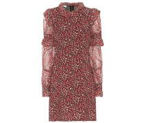 Bedrucktes Kleid aus Wollcrêpe