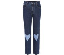 Jeans mit Aufnähern
