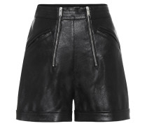 High-Rise Shorts aus Lederimitat