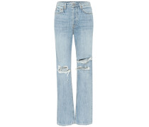 Mid-Rise Straight Jeans Mica