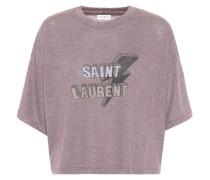 Cropped T-Shirt mit Print