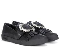 Verzierte Sneakers aus Kalbsleder