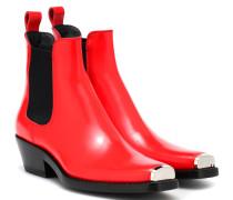 Ankle Boots Western Claire aus Leder