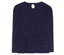 Strickpullover aus Wolle und Cashmere mit Rüschen