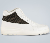 High-Top Sneakers aus Leder