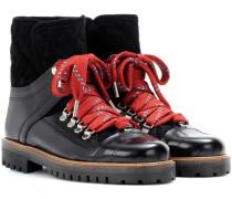 Ankle Boots Mira Shine aus Leder