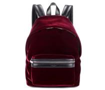 Rucksack aus Samt und Leder