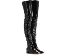 Garavani Overknee-Stiefel aus Lackleder und Lacklederimitat